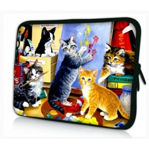 """Waterfly Kitty's Party 12.5"""" 13"""" 13.1"""" 13.3"""" Inch Laptop Notebook Netbook Computer Tablet PC Soft Neoprene Sleeve Case Bag Pouch Carrying Holder Protector for Apple Macbook Pro 13 Macbook Air 13.3"""" Toshiba KIRAbook 13i5s 13.3-Inch Touchscreen Ultrabook HP"""