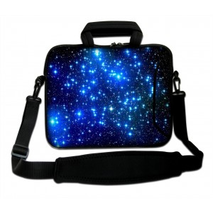"Waterfly Tinkle Stars 15"" 15.4"" 15.6"" Inch Laptop Notebook Computer Netbook Soft Shoulder Bag Messenger Bag Case Cover Pouch Holder With Extra 10"" Pocket for Apple Macbook Pro 15 Macbook Air 15 HP ENVY 15-j173ca Dell Inspiron 15-3217u Dell Inspiron 15-352"