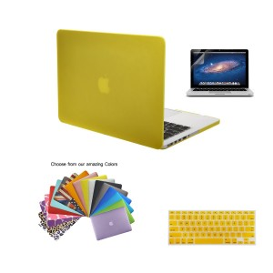 """MacBook Pro 15"""" with Retina Display Case TECOOL 3 in 1 Ultra Slim Multi Colors Plastic Hard Shell Cover, Silicone Keyboard Cover and Screen Protection for MacBook Pro 15"""" with Retina Display Model with TECOOL Logo Mouse Pad (MacBook Pro 15"""" with Retina Di"""