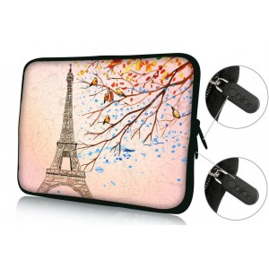 "Colorfulbags Universal Eiffel 9.7"" 10"" 10.1"" 10.2"" inch soft Neoprene Laptop Netbook Tablet Case Sleeve Bag Cover Pouch For Apple iPad 2, 3, 4 5 air and Most Dell HP ASUS Toshiba Samsung Tablet Computer up to 10.2 Inch"