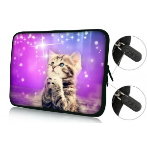 """Colorfulbags Universal Cat 9.7"""" 10"""" 10.1"""" 10.2"""" inch soft Neoprene Laptop Netbook Tablet Case Sleeve Bag Cover Pouch For Apple iPad 2, 3, 4 5 air and Most Dell HP ASUS Toshiba Samsung Tablet Computer up to 10.2 Inch"""