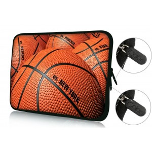"""Colorfulbags Universal Basketball 11.6 12 12.1 12.2 inches Laptop Neoprene Soft Bag Computer Sleeve Cover Case Pouch For 11.6"""" - 12.5"""" Universal Chromebook Ultrabook Notebook Netbook Computer Tablet PC"""