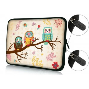 "Colorfulbags FBAps17-002 NEW Art design cute OWL 16"" 17"" 17.1"" 17.3"" 17.4"" inch soft Neoprene Notebook Com"