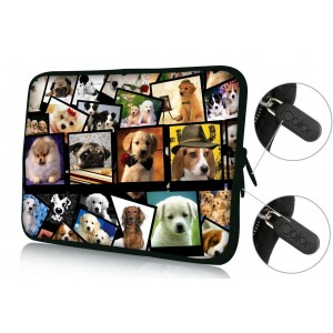 "Colorfulbags FBAps17-003 NEW Art design many dogs 16"" 17"" 17.1"" 17.3"" 17.4"" inch soft Neoprene Notebook Co"