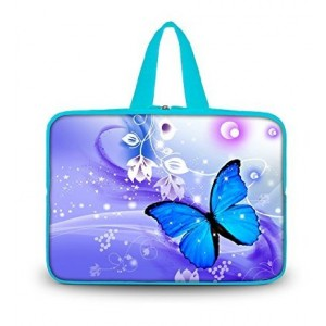"Colorfulbags OHS13-020 NEW Fashion Blue butterfly 12.5"" 13"" 13.1"" 13.3"" inch Laptop Netbook Computer Tablet"