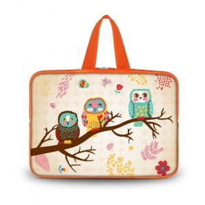 """Colorfulbags OHS14-007 NEW Fashion cute Three Owl 13.7"""" 14"""" 14.1"""" 14.2"""" 14.4"""" Inch Laptop Netbook Computer"""