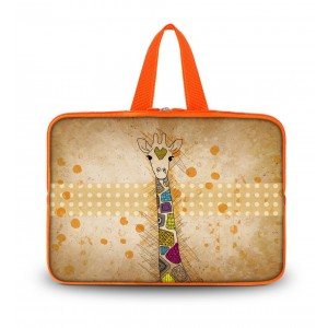 """Colorfulbags OHS14-008 NEW Fashion Brown with Giraffe 13.7"""" 14"""" 14.1"""" 14.2"""" 14.4"""" Inch Laptop Netbook Comp"""
