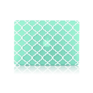 TOP CASE TopCase Quatrefoil / Moroccan Trellis Green Ultra Slim Light Weight Rubberized Hard Case Cover for