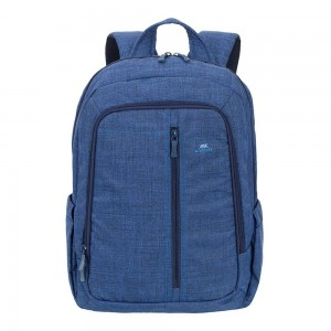 Rivacase 7560 Aspen 15.6 Inch Laptop Backpack, Slim, Light, Waterproof Fabric, Blue Color