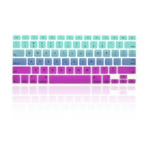 "TOP CASE TopCase Faded Ombre Series Light Blue and Purple Silicone Keyboard Cover Skin for Macbook 13"" Uni"