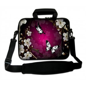 """ProfessionalBags Nice Butterfly 15"""" Laptop Shoulder Bag Case Sleeve + Pocket For 15.6"""" Dell Inspiron/HP Pavilion£"""