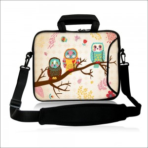 """Colorfulbags Universal Owls9.7"""" 10"""" 10.2"""" inch Laptop Netbook Computer Tablet PC Shoulder Case Carrying Sleeve Bag Pouch Cover Protector Holder With Extra Pocket For Apple iPad/Acer Aspire one/Dell inspiron mini/Samsung N145/HP Touchpad Mini 210/Lenovo S2"""