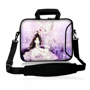 "Colorfulbags Universal Girl and Swan 13"" 13.1"" 13.3"" inch Neoprene Laptop Netbook tablet Shoulder Case Carrying sleeve Bag cover with strap Pocket For A13.3 inch Macbook Pro New Retina, Toshiba Portege ,HP pavilion dv3 Macbook Pro,DELL XPS Ultrabook 13inc"