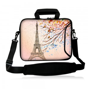 """Colorfulbags Fshb15-005 NEW Fashion Eiffel Tower 14"""" 14.1"""" 14.2"""" 15"""" 15.4"""" 15.6"""" Inch Laptop Notebook Com"""