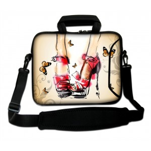 """ProfessionalBags Crystal high-heeled Shoes 17"""" 17.3"""" Laptop Shoulder Bag Carrying Case Computer PC Cover Pouch+Ha"""