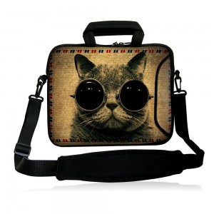 """Colorfulbags Fshb15-014 NEW Fashion Bespectacled cat 14"""" 14.1"""" 14.2"""" 15"""" 15.4"""" 15.6"""" Inch Laptop Notebook"""