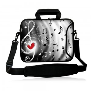 "Colorfulbags Fshb17-012 NEW Art Fashion music and Red heart 16"" 16.5"" 17"" 17.1"" 17.3"" 17.3"" inch Laptop N"