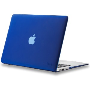 """Kuzy - AIR 13-inch NAVY BLUE Rubberized Hard Case for MacBook Air 13.3"""" (A1466 and A1369) (NEWEST VERSION) Shell Cover - Navy Blue"""