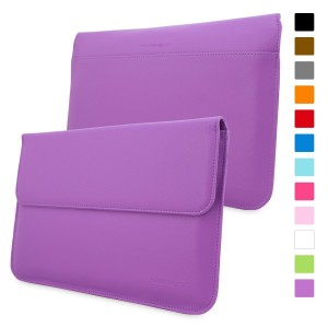Snugg Macbook Air and Pro 13 Inch Case - Leather Sleeve Case with Lifetime Guarantee (Purple) for