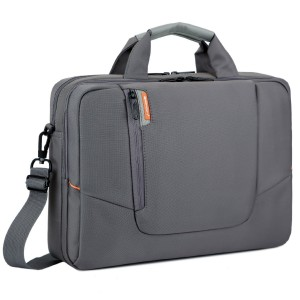 BRINCH(TM) 15.6 inch New Soft Nylon Waterproof Laptop Computer Case Cover Sleeve Shoulder Strap Bag with Side Pockets Handles and Detachable for Macbook Pro Retina 15 inch Mini Asus/DELL/HP/Samsung ,Colour Grey