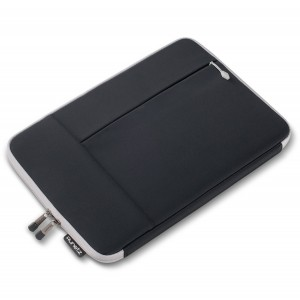 """Runetz - 12-inch BLACK Neoprene Sleeve Case Cover for The New MacBook 12"""" with Retina Display and Laptop 12"""" - Black-Gray"""