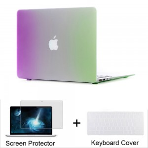 """Neway 3 in 1 bundle Hard Shell Protective Case, Smooth Matte Finish for Apple New Macbook 12"""" inch Retina Display 2015 Laptop Computer(Model A1534)and Keyboard Cover and HD Screen protector,12"""" inch,Mi-Rb-pur+gre(bundle)"""