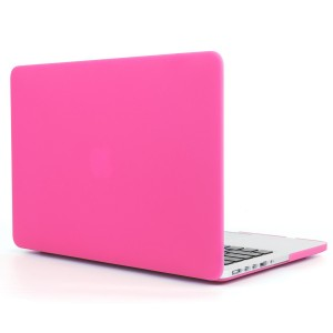 13 inch Macbook Case, Alucky Rubberized Hard Protector Shell Skin Cover for Apple Macbook Pro 13.3 with Retina Case A1502/A1425(Newest Version) Laptop Computer Bag Ultra Slim (Hot Pink)