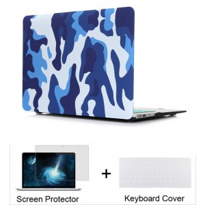 """Neway 3 in 1 bundle Hard Shell Protective Case, Smooth Matte Finish for Apple New Macbook 12"""" inch Retina Display 2015 Laptop Computer(Model A1534)and Keyboard Cover and HD Screen protector,12"""" inch,Cafl-blue(bundle)"""