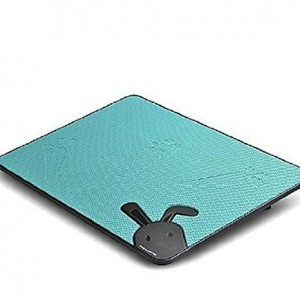 "Security Blue Cute Rabbit Ultra-thin USB Powered Notebook Laptop Cooling Pad for 12""-17"" Laptop Notebook Mute Big Fan Laptop Notebook Computer Base Plate for 12 13 14 15 16 17 Inch Computer"