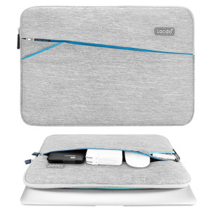 Lacdo 13-13.3 Inch Laptop Notebook Sleeve Case Bag / Ultrabook Carrying Case for MacBook Pro 13.3-inch MacBook Air 13.3 ASUS Chromebook Dell HP - Gray