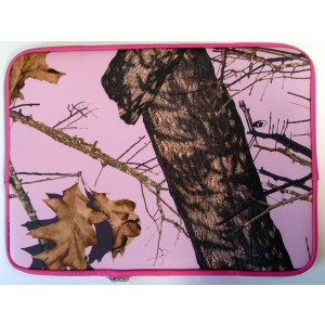 "Mossy Oak 15"" 15.6"" Neoprene Pink Laptop Sleeve Case Bag - Notebook Computer Case"