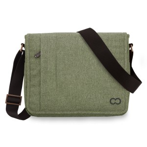 11 Inch MacBook Air / 12 Inch MacBook / Laptop Casecrown Canvas Horizontal - Campus Messenger Bag (Palo Alto Green)