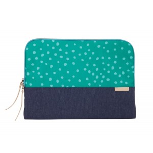 """STM Grace, Laptop Sleeve for 13"""" MacBook's and Ultrabook's - Teal Dot/Night Sky (stm-114-106M-47)"""