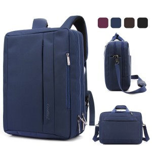 Coolbell(TM)15.6 inch Multi-function Convertible Laptop Messenger Computer Bag Single-shoulder Backpack Briefcase Oxford Cloth Waterproof Multi-Compartment For iPad Pro Macbook Men And Women(Blue)