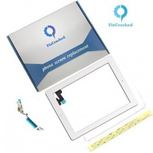 FixCracked iPad 2 Screen replacement,iPad 2 Front Touch Digitizer Assembly Replacement include Home Button +C