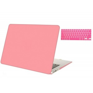"""Mosiso MacBook Air 13 Inch 2 in 1 Soft-Touch Plastic Hard Case and Keyboard Cover for MacBook Air 13.3""""(Models: A1369 and A1466), Airy Blue"""