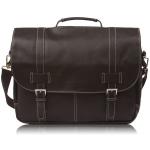 "Rockdale Classic Laptop Messenger Bag, Midnight Brown - Briefcase Designed to Fit Laptops 13"", 14"" and up to 15.6 Inches"