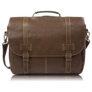 """Rockdale Classic Laptop Messenger Bag, Brown - Briefcase Designed to Fit Laptops 13"""", 14"""" and up to 15.6 Inches"""