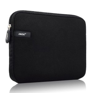 Laptop Sleeve - iXCC 13 13.3 Inch Notebook Computer Sleeve Case Neoprene Water resistant Briefcase Carrying Bag for Macbook or More - Black