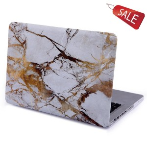"""2 in 1 Macbook case Retina 13""""/13.3"""",KSprot Marble White Gold Hard Shell Clip Snap On Case Skin Cover for Apple 13.3"""" inches Macbook cover (Fits Model:A1502/A1425)"""