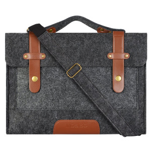 Mosiso 12.9 iPad Pro, 13.3 Inch Laptop, MacBook Air/Pro Felt Shoulder Bag Briefcase Sleeve Carrying Case, Compatible with Most 11-Inch Netbook, Black