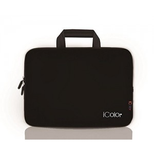 iColor -Fashion Black 13-13.3 Inch Laptop Netbook / Notebook Computer / MacBook Air / MacBook Pro Case Briefcase Bag Pouch Sleeve Carry Case (IHB13-015)