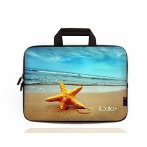 "iColor - Fashion Starfish 15""-15.6"" Inch Laptop / Notebook Computer / MacBook Air / MacBook Pro Case Briefcase Bag Pouch Sleeve Carry Case (IHB15-010)"