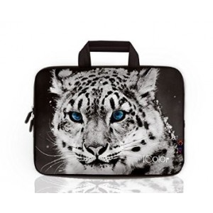 "iColor - Fashion Snow Leopard 15""-15.6"" Inch Laptop / Notebook Computer / MacBook Air / MacBook Pro Case Briefcase Bag Pouch Sleeve Carry Case (IHB15-011)"