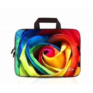 """iColor - Fashion Rose 15""""-15.6"""" Inch Laptop / Notebook Computer / MacBook Air / MacBook Pro Case Briefcase Bag Pouch Sleeve Carry Case (IHB15-012)"""