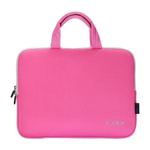 "iColor - Fashion Pink 15""-15.6"" Inch Laptop / Notebook Computer / MacBook Air / MacBook Pro Case Briefcase Bag Pouch Sleeve Carry Case (IHB15-016)"