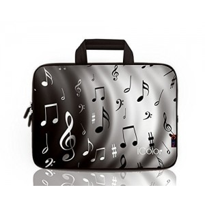 "iColor-Fashion Music Notes 17""-17.3"" Inch Laptop / Notebook Computer / MacBook / MacBook Pro Case Briefcase Bag Pouch Sleeve Carry Case (IHB17-002)"