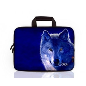 "iColor-Fashion Wolf 17""-17.3"" Inch Laptop / Notebook Computer / MacBook / MacBook Pro Case Briefcase Bag Pouch Sleeve Carry Case (IHB17-013)"