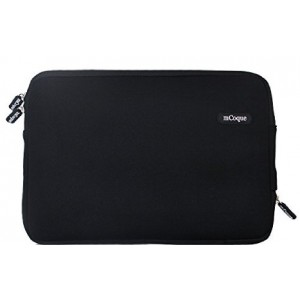 "mCoque Quality Black neoprene bag for ASUS Chromebook Flip 10.1 inch Chromebook or other 10"" Laptop and Tablet"