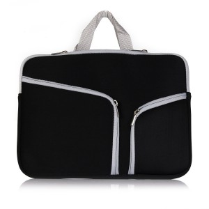 "Kitron-Neoprene Soft Sleeve Case Bag for All Laptop 15-inch and MacBook Pro 15.4"" with or without Retina Display - Black"